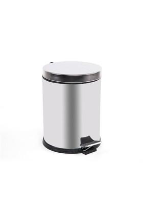 Double S Pedallı Çöp Kutusu 5 lt Çelik