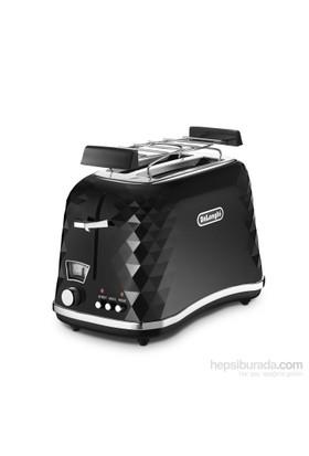 Delonghi CTJ2103 BK FRONT Bianco Ekmek Kızartma Makinesi Siyah