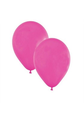 Pandoli 10 Adet Fuşya Pembe Metalik Düz Renk Sedefli Latex Balon