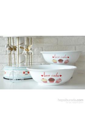 Keramika 2 Parça 25 Cm Fruit Cake Diyar Salata Kasesi
