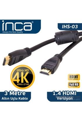 Inca IHS-03 3m Altın Uçlu 4K Ultra HD 3D HDMI Kablo