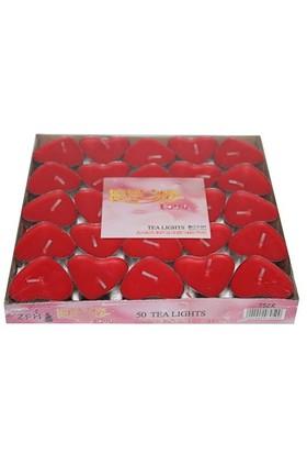 Pandoli Kalpli Tilayt Mum 50 Adet Kırmızı Renk