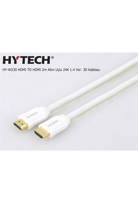 Hytech Hy-W230 Hdmı To Hdmı 2M Altın Uçlu 24K 1.4 Ver. 3D Kablosu