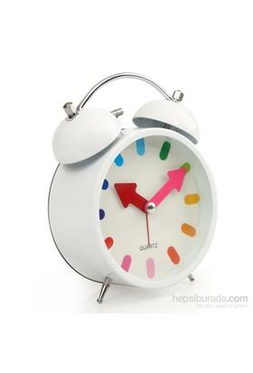 Time Gold Çalar Masa Saati Beyaz