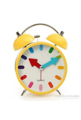 Time Gold Çalar Masa Saati Sarı