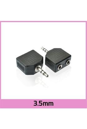 Ti-Mesh 3.5Mm Stereo Plug / 2 X 3.5Mm Stereo Jack Splitter Çoklayıcı - Siyah