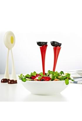 Bluezen Ayak Tasarımlı Dekoratif Salata Kaşığı (2 Parça)
