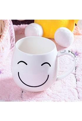Bluzen Happy Smile Porselen Kupa Bardak