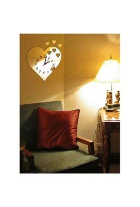 Kalp Parçaları Dekoratif Ayna Saat