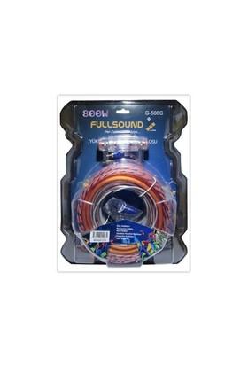 Fully 8Ga 800W Oto Anfi Silikon Kablo Seti