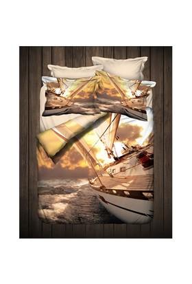 İyi Geceler İstanbul 3D Exclusive Saten Çift Kişilik Nevresim Takımı Sailor