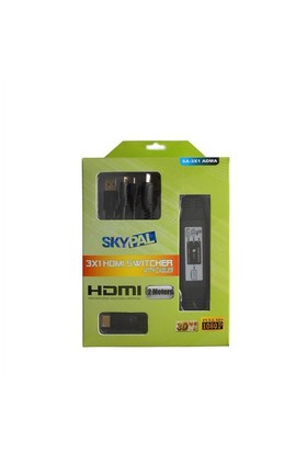 Skypal Sa-3X1 Adma Hdmı Swich Mikro+Mikro+A 3'Lü Kablo