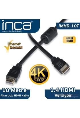 Inca IMHD-10T 10M 4K 1,4 V 3D Altın Uçlu HDMI Kablo