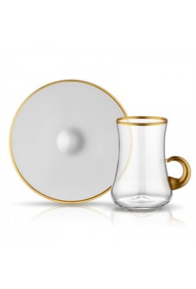 Koleksiyon Dervish Kulplu Çay Seti 6Lı Altın