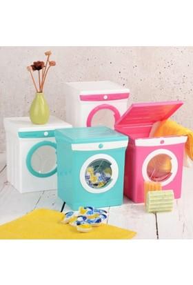 Bluezen Mini Çamaşır Makinesi Görünümlü Deterjan Kutusu