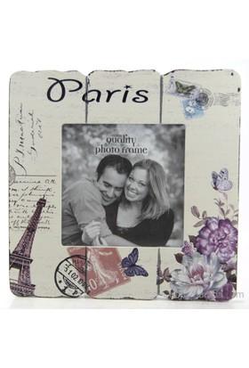 Paris Ahşap Fotoğraf Çerçevesi