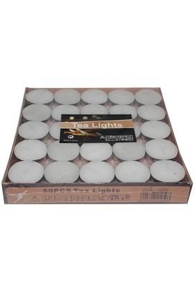 Pandoli 50 Adet Tealight Mum Beyaz Renk
