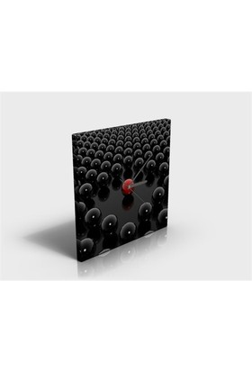 Arte80 - Red Sphere - Kanvas Tablo Saat