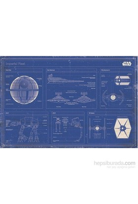 Maxi Poster Str Wars Imperial Fleet Blueprint
