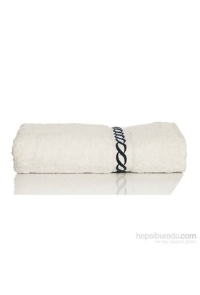 Yastıkminder Koton Beyaz Nakışlı 74X140 Havlu