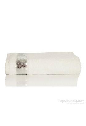 Yastıkminder Koton Beyaz Payet Nakışlı 120X70havlu