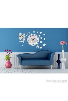 Yıldız Dağıtan Melekli Dekoratif Ayna Saat