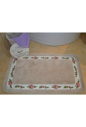 Giz Home Gül Banyo Paspası 70X120 Cream