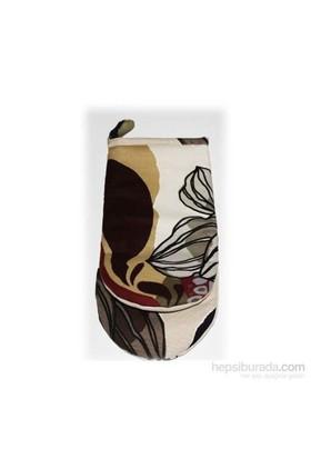 Yastıkminder Kahverengi Siyah Beyaz Desenli Mutfak Eldiveni