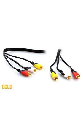 S-Link Sl-Rca10 3Rca To 3Rca 10M Gold Kablo