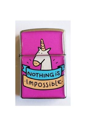 Köstebek Nothing Is Impossible Unicorn Çakmak Kzc264