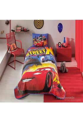 Taç Disney Cars Nitroade Tek Kişilik Yatak Örtüsü