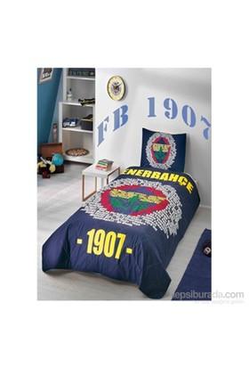 Fenerbahçe Marşlı Logo Tek Kişilik Ranforce Yatak Örtüsü