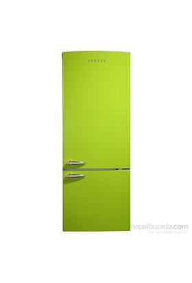 Vestel RETRO NFK510 Yeşil A+ 510 Lt NoFrost Buzdolabı