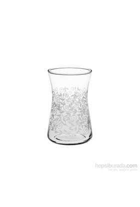 Joy Glass 6'lı Heybeli Şal Desen Çay Bardağı