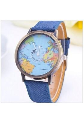 Köstebek Uçakla Dünya Turu Mavi Kol Saati