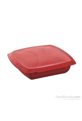 Pyrex Flexi Silikon Kare Buharda Pişirici Red