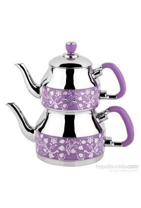 Özkent K-331 Symbol Mini Desenli Çaydanlık Lila
