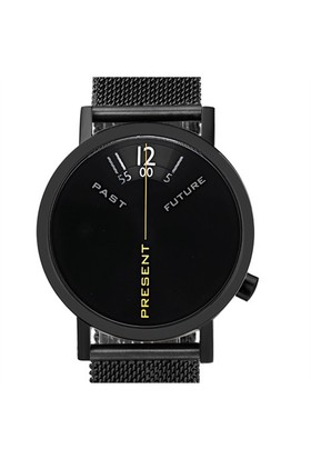 Projects Watches Past Present Future Black Mesh Unisex Kol Saati