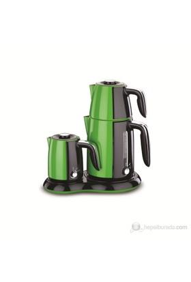 Korkmaz A 367-02 Çay ve Kahve Makinası Yeşil / Siyah