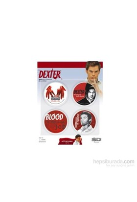 Dexter 4 Badges Set B Dexter 4'Lü Rozet Seti