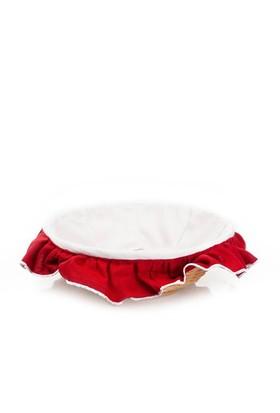 Yastıkminder Beyaz Kırmızı Ekmek Sepeti
