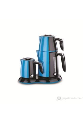 Korkmaz A 367-03 Çaykahve Makinesi Mavi / Siyah