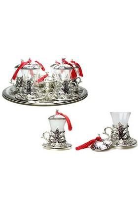 Uygun Osmanlı Motifli 6 Kişilik Çay Seti