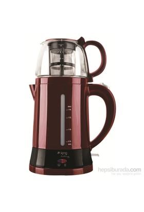 King K-8500 Tea Max Otomatik Çay Makinesi - Kırmızı