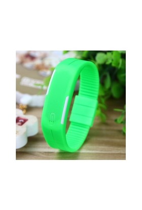 Qb Dijital Unisex Kol Saati Açık Yeşil
