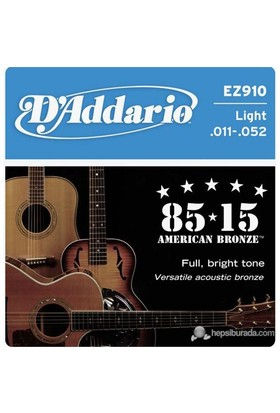 Daddario Ez910 - Light -011 Akustik Gitar Takım Tel