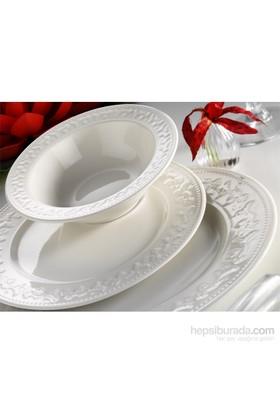 Kütahya Porselen Mitterteich Porselen Silvia Krem 24 Parça 6 Kişilik Yemek Takımı