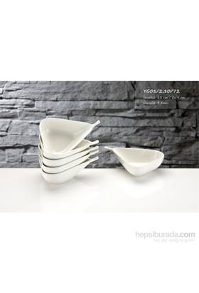 iHouse Yg01 Porselen Armut Kase 6 Lı Beyaz