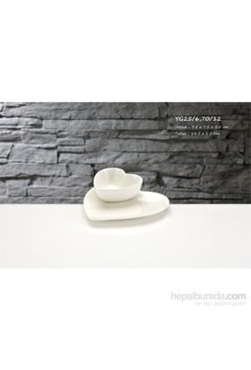 iHouse Yg25 Porselen 2 Li Kalpli Kase Beyaz
