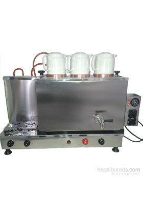 Osmanlı 3 Demlikli Elektrostatik Full Otomatik Çay Kazanı
